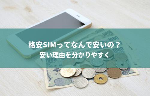格安SIMってなんで安いの?